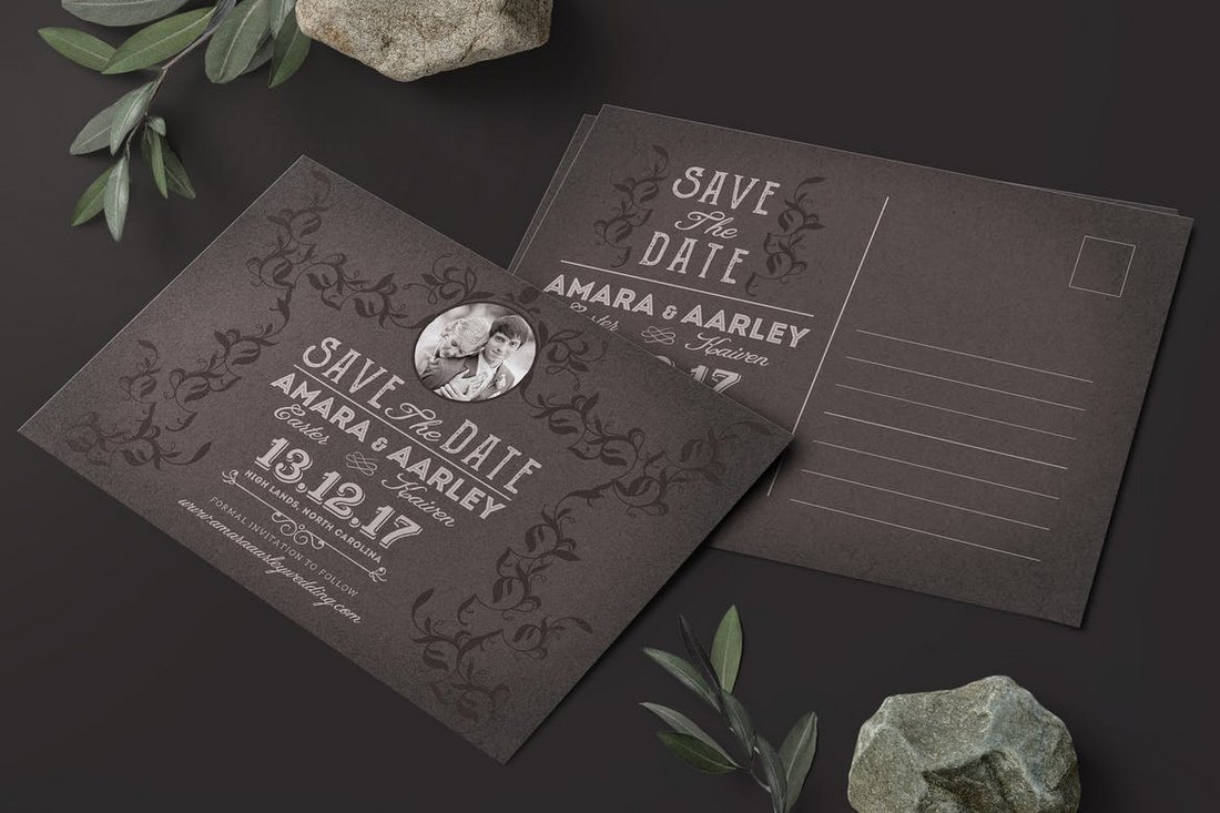 Vintage-Save-the-Date-Post-Card-Template 15+ Gorgeous Save the Date Wedding Templates design tips