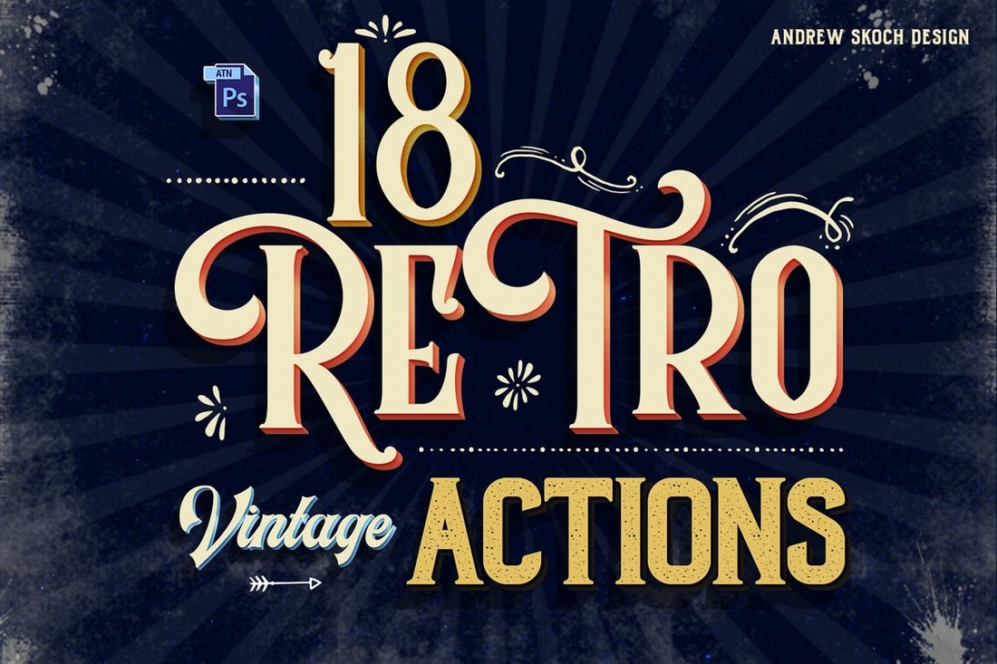 Vintage Text Photoshop Action