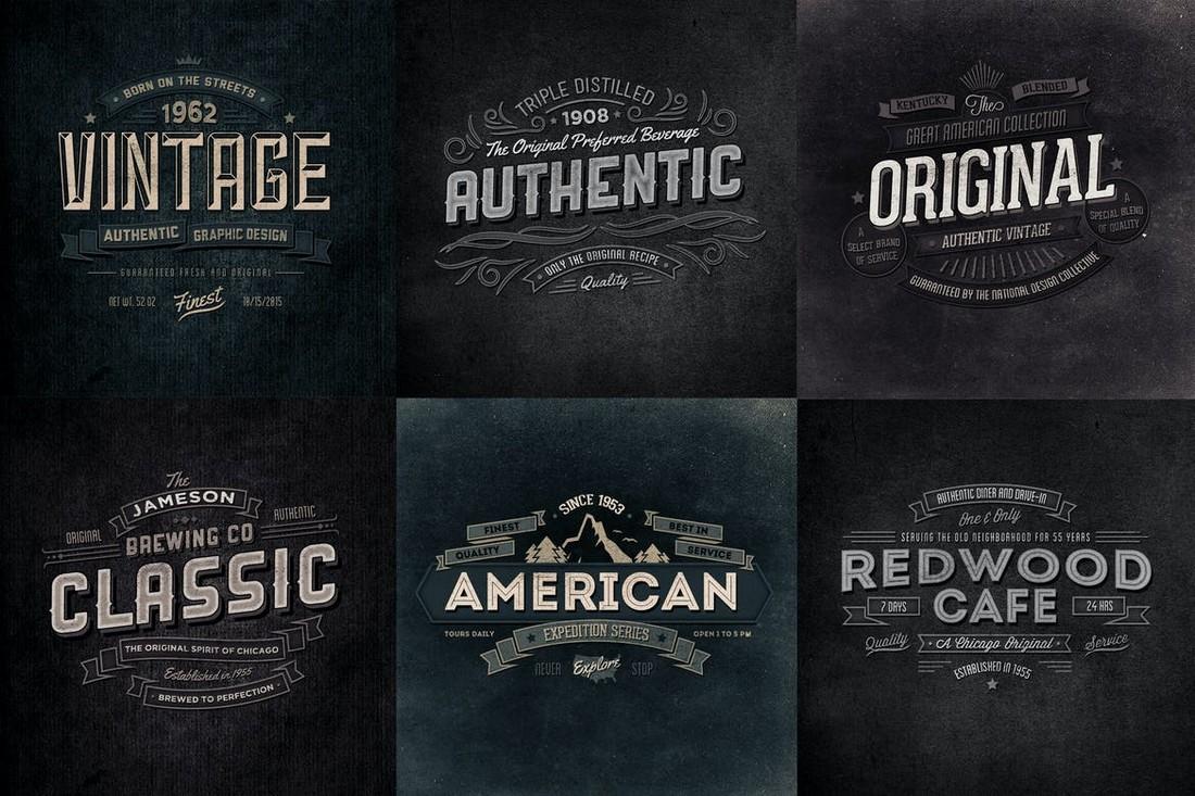 Vintage Typographic Insignias & Badges