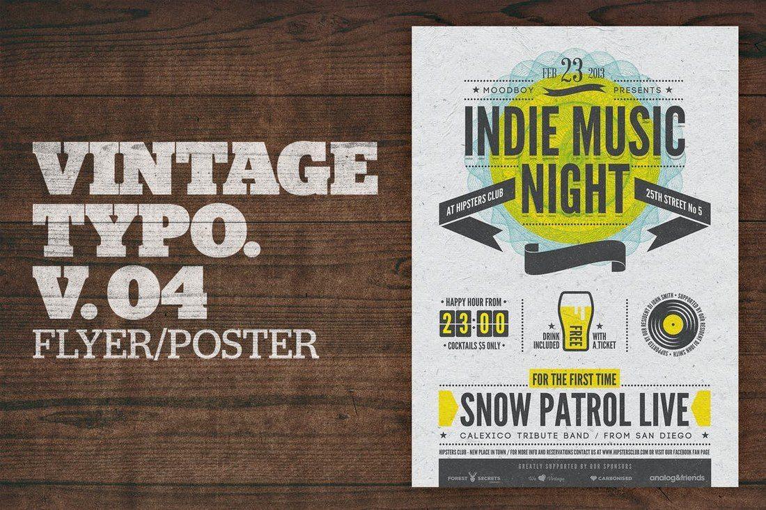 Vintage-Typography-Poster-V04 27 Inspiring Letterpress Style Posters design tips