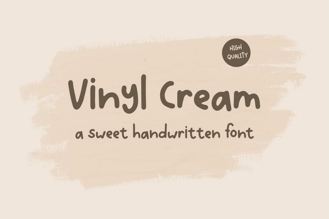 Vinyl Cream - Creative Handwritten Font