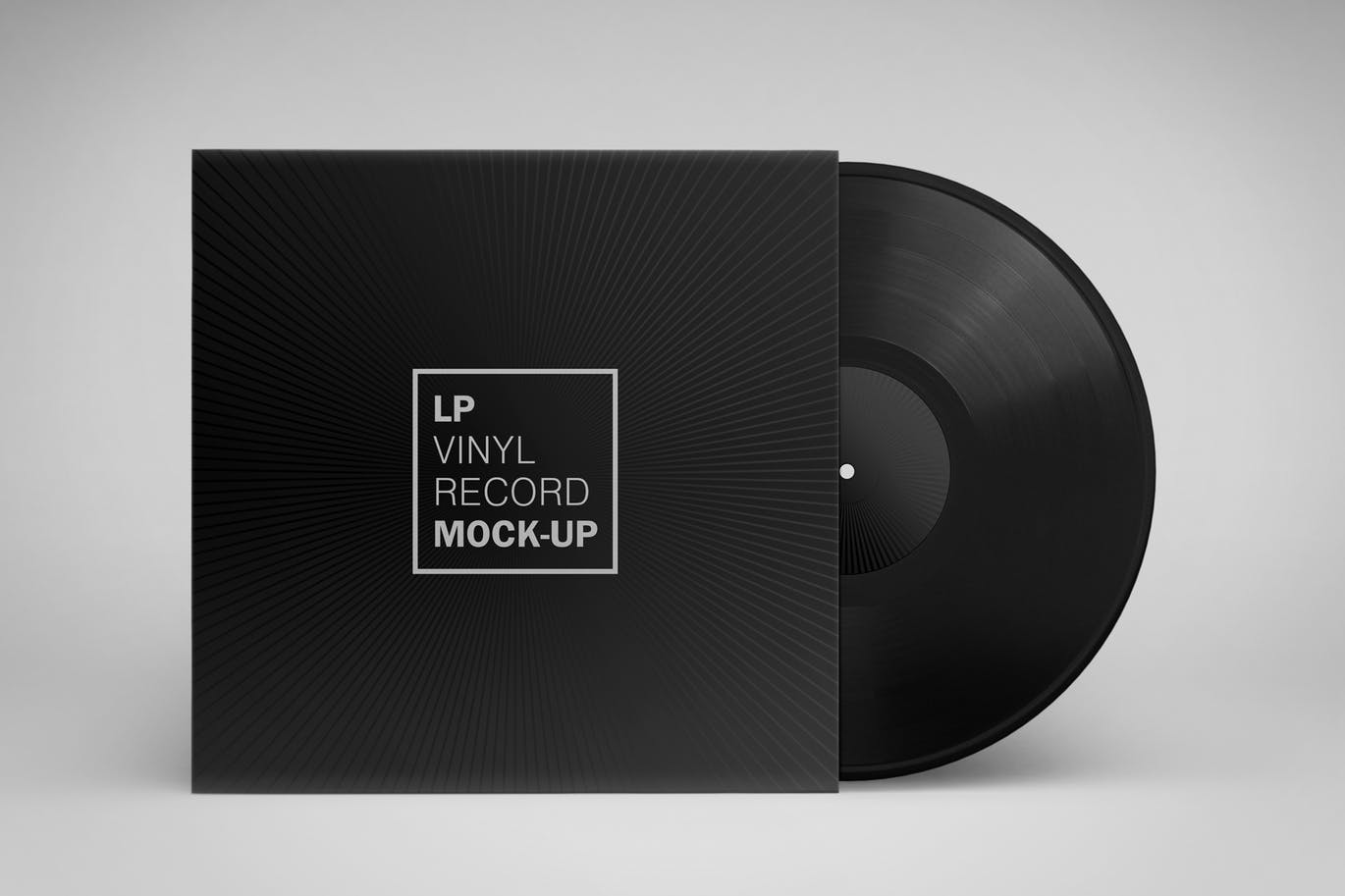 This vinyl record and cover mockup featuring a modern design come in 8 psd files with different perspectives each file contains fully layered smart objects
