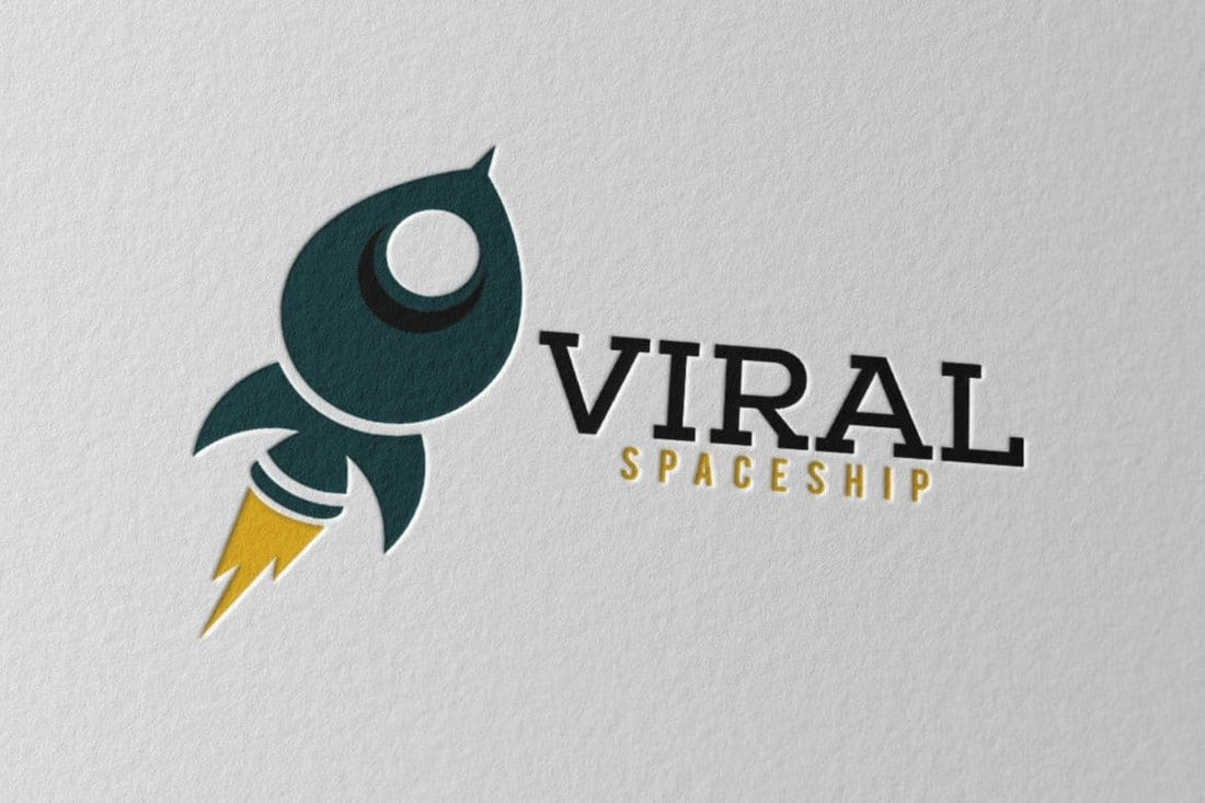 Viral Spaceship Logo