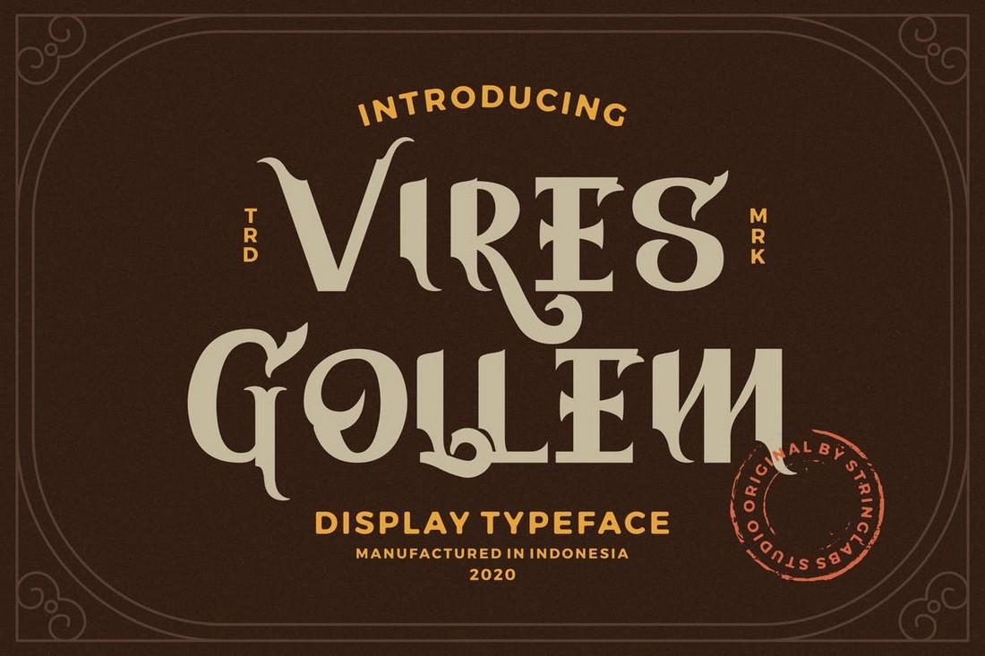 Vires Gollem - Gothic Display Font
