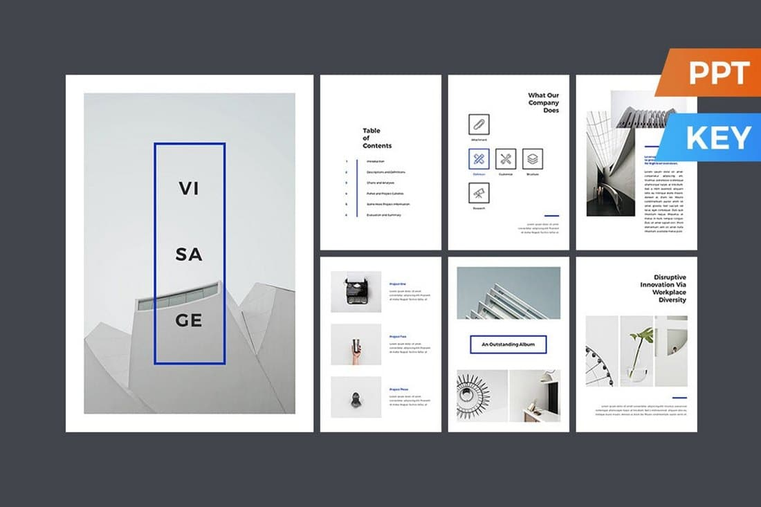 Visage Print Template