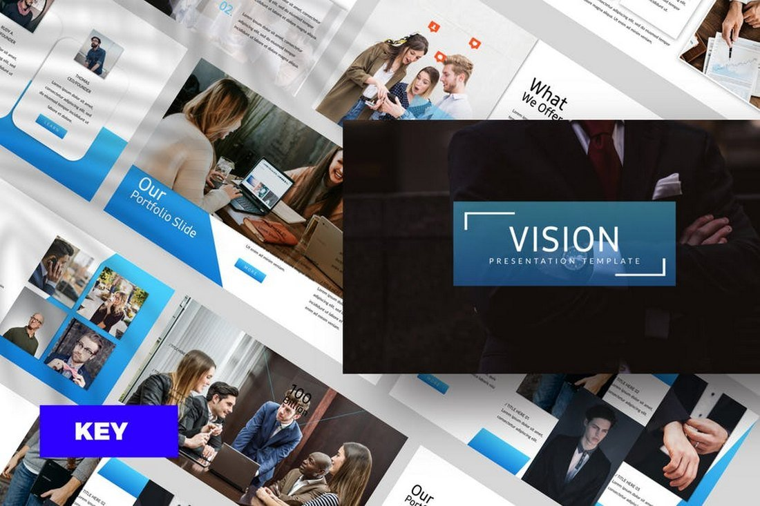 Vision-Corporate-Keynote-Template 50+ Best Keynote Templates of 2021 design tips
