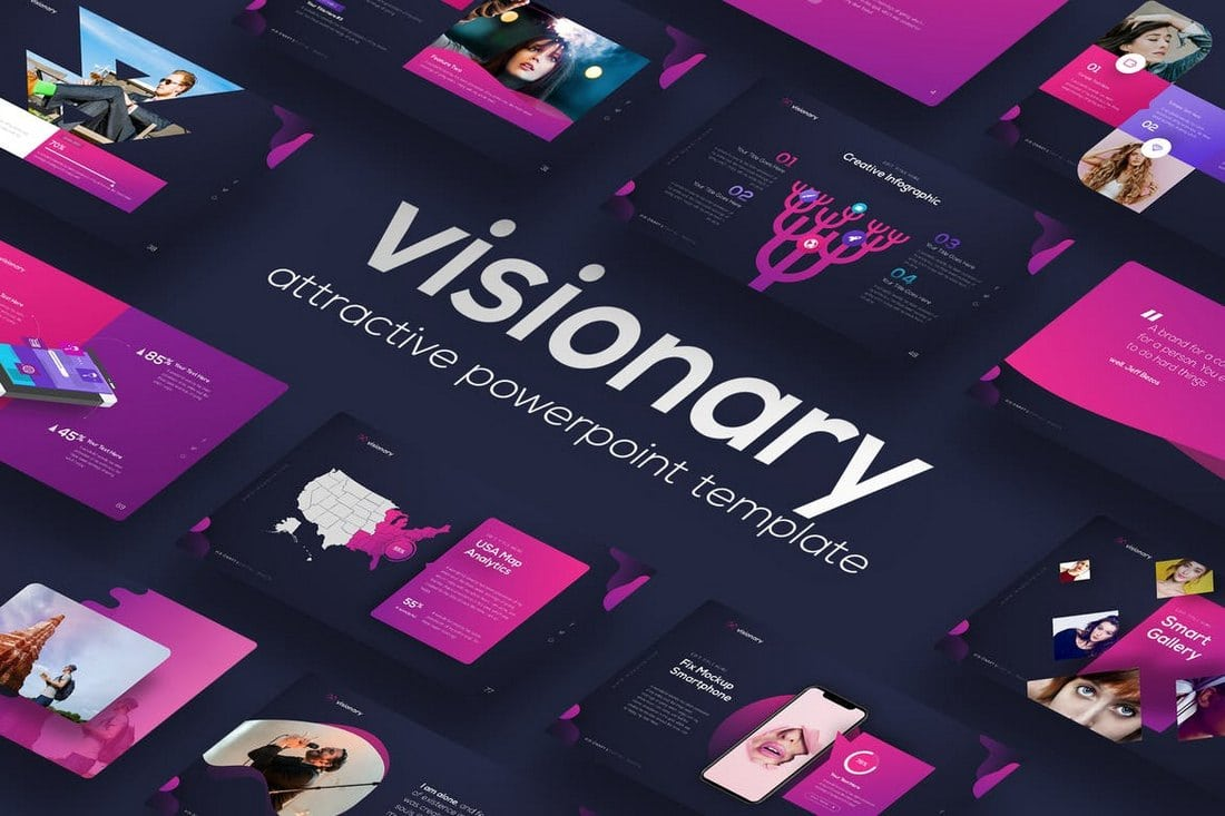 Visionary-Attractive-PowerPoint-Design 20+ Modern Professional PowerPoint Templates design tips