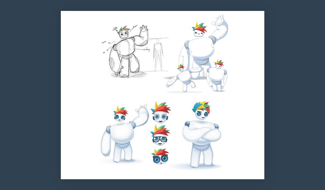 Visme-exploring-mascot-2 The Design Process Behind Visme, the SaaS Character in the Cloud design tips