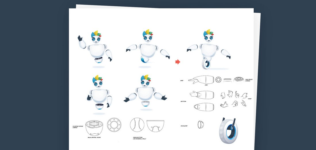 Visme-mascot-poses The Design Process Behind Visme, the SaaS Character in the Cloud design tips