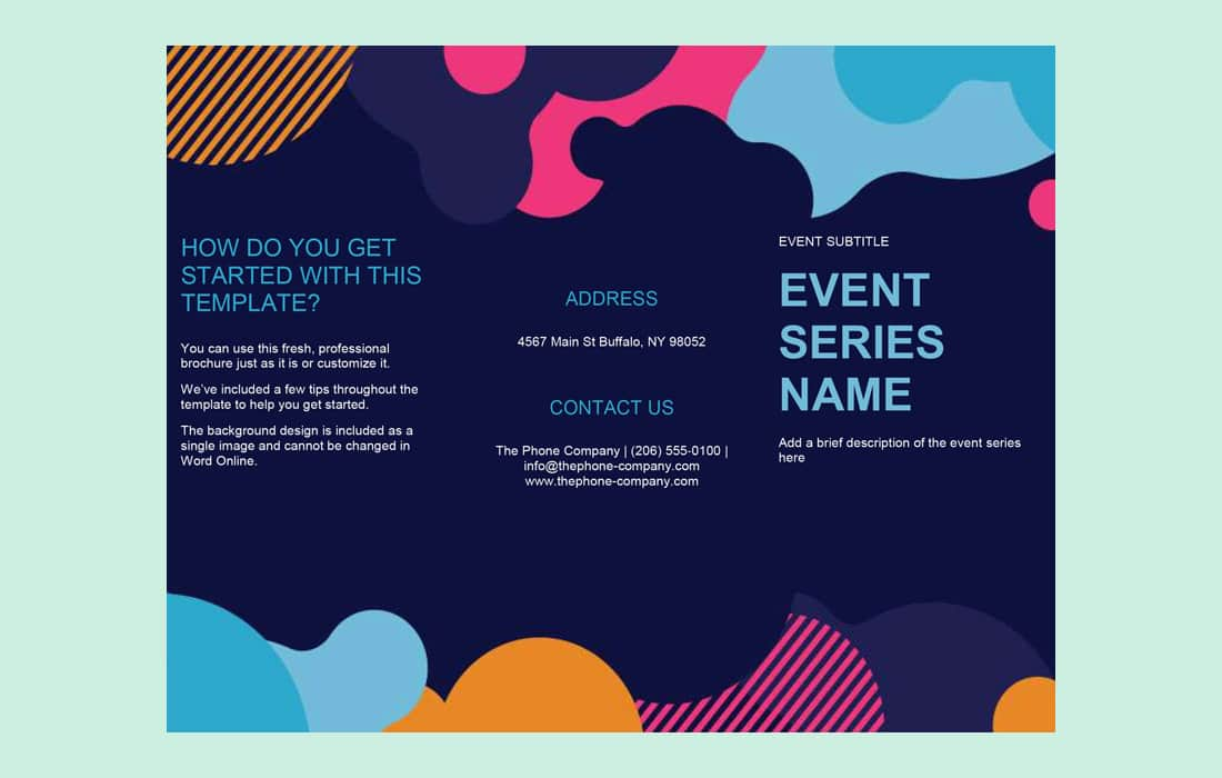 Vivid Shapes Free Word Event Brochure