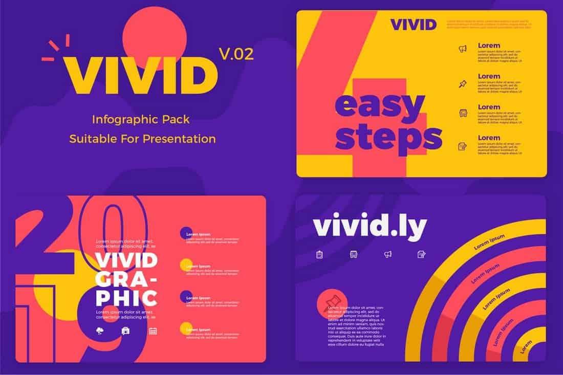 Vivid v2 - Modèles d'infographie de présentation