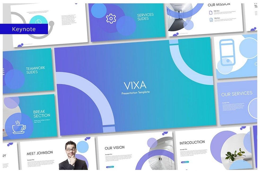 Vixa - Modern Business Keynote Template