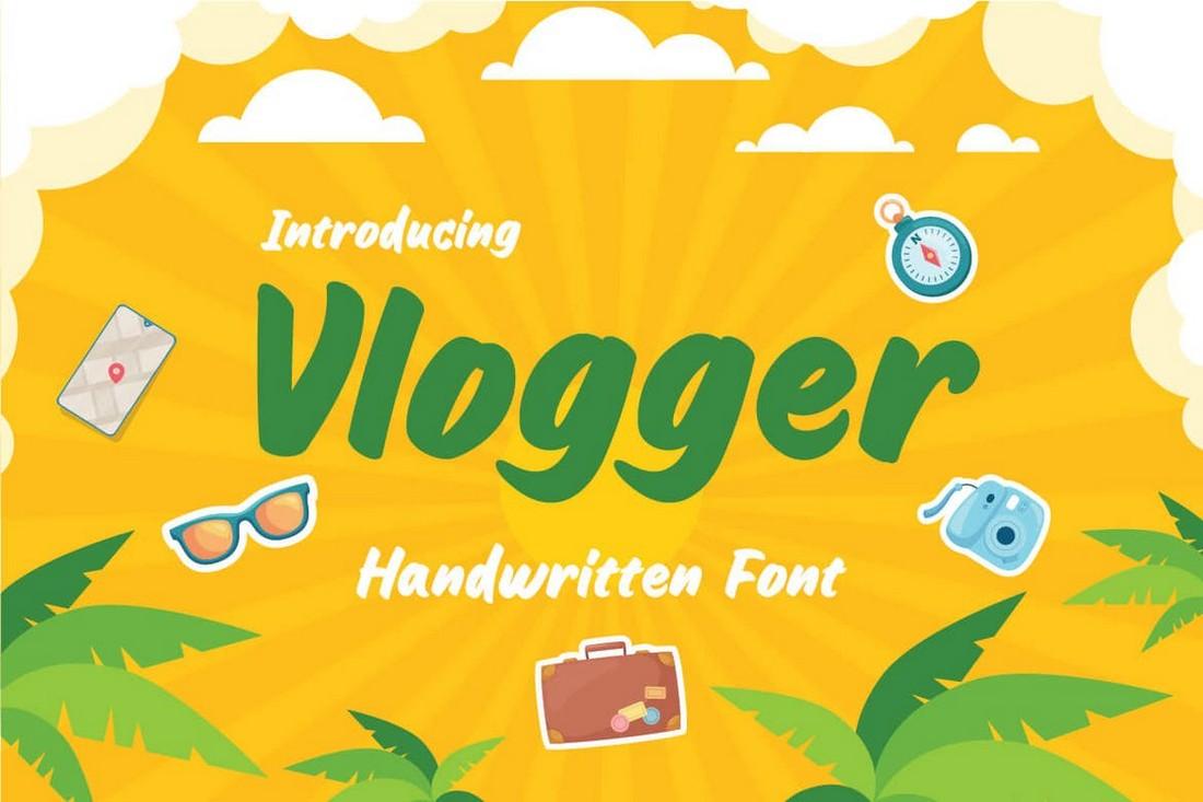 Vlogger font