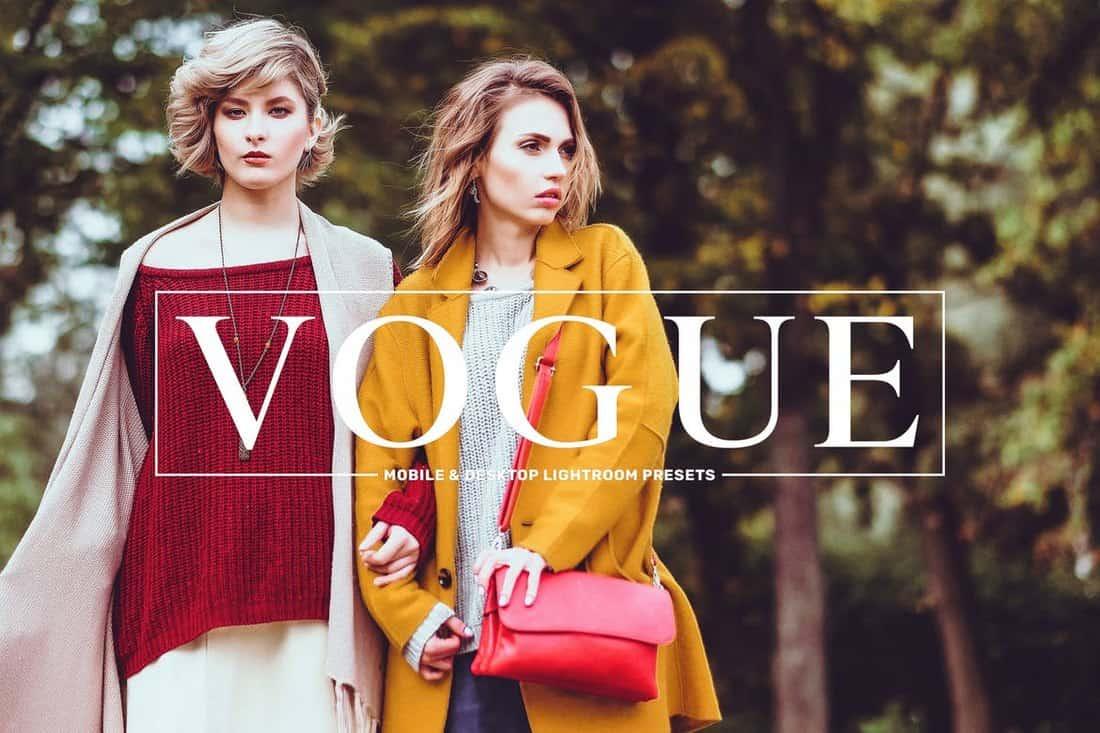 Vogue Lifestyle Lightroom Presets Pack