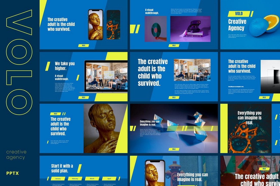 Volo - Creative Agency Powerpoint Template