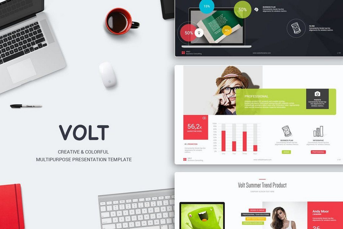 Volt-Multipurpose-Template 50+ Best PowerPoint Templates of 2019 design tips