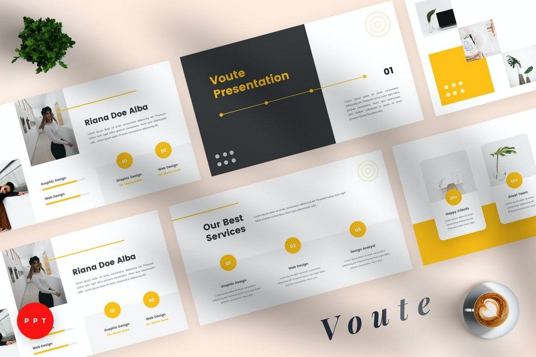 Voute - Pitch Deck Powerpoint Template