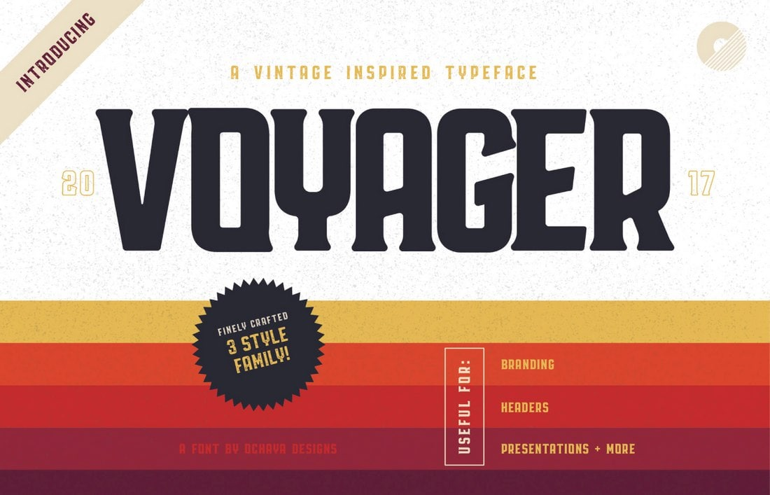Voyager - Free Creative Vintage Font