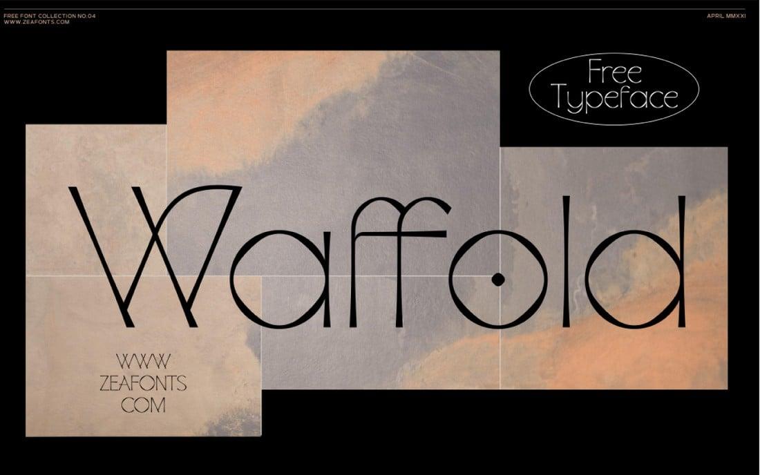 Waffold - Free T-Shirt Font