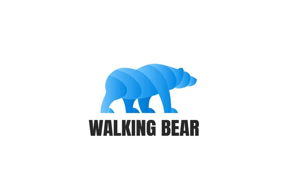 Walking Bear - Logo Template