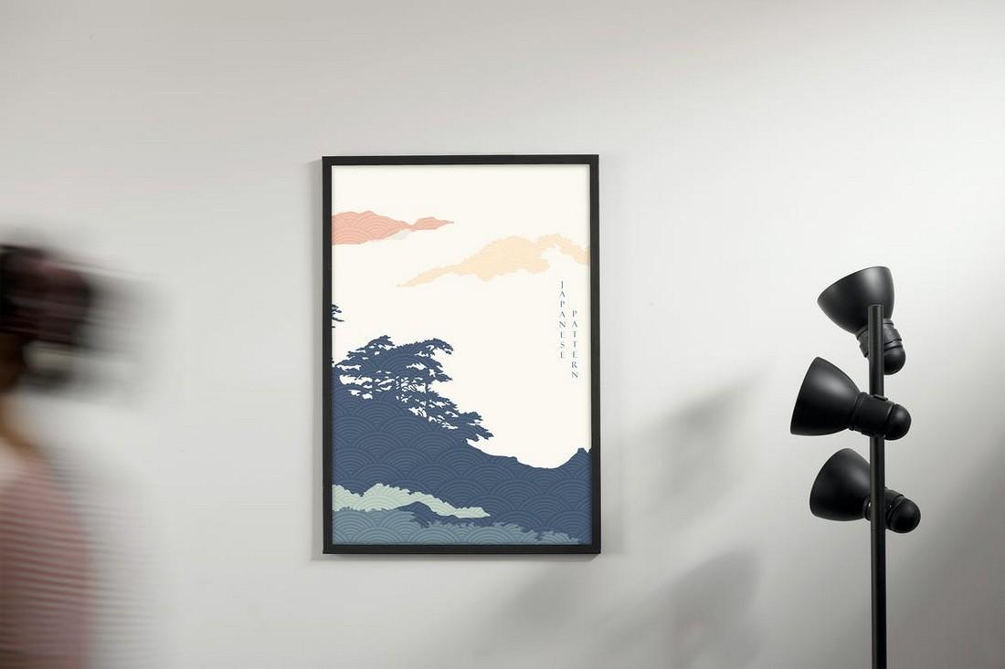 Wall Frame Poster Mockup