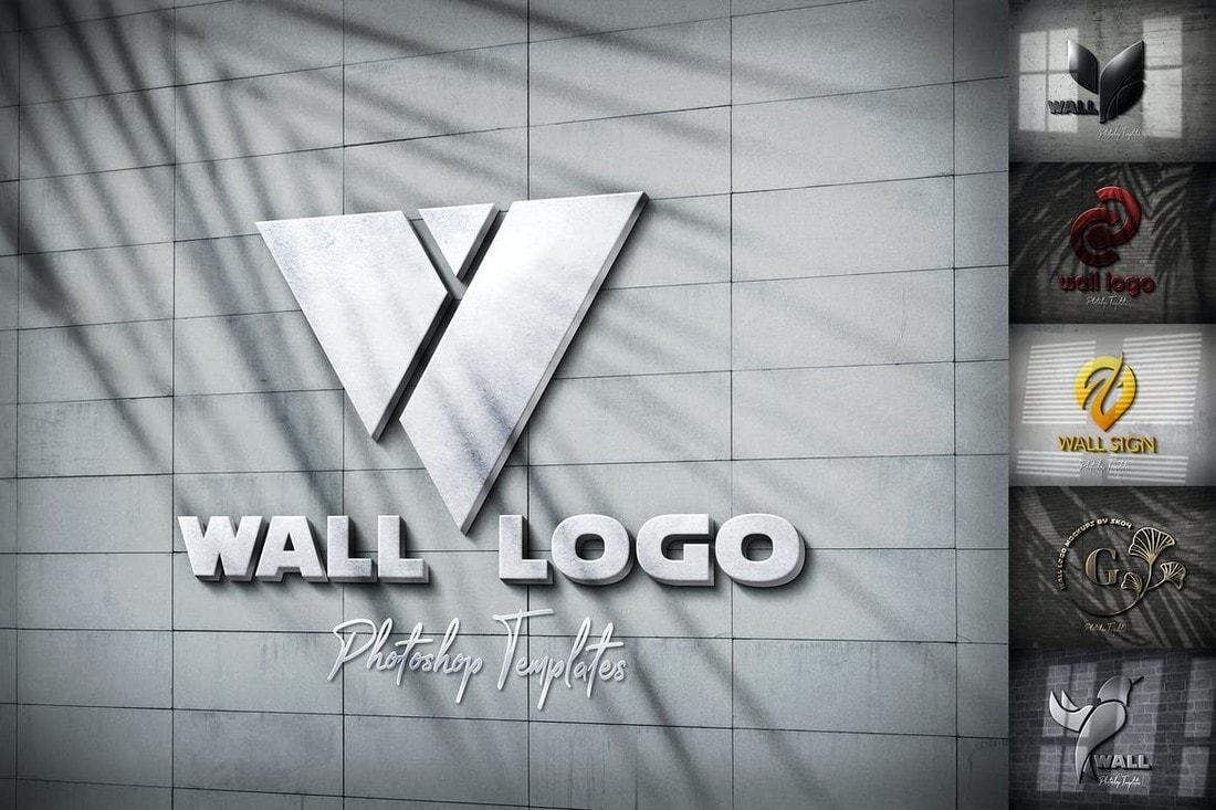 Wall-Logo-Sign-Mockups 100+ Logo Mockup Templates (PSD & Vector) design tips