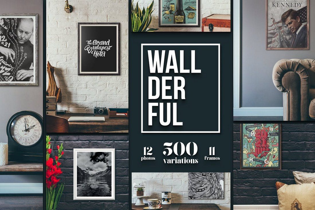 Wallderful-Frames-Mockups 30+ Best Poster Mockup Templates 2021 design tips