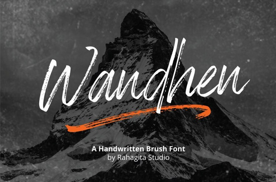 Wandhen - Free Hand-Made Brush Font