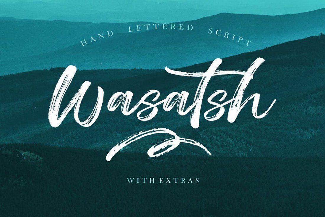 Wasatsh-Brush 100+ Beautiful Script, Brush & Calligraphy Fonts design tips