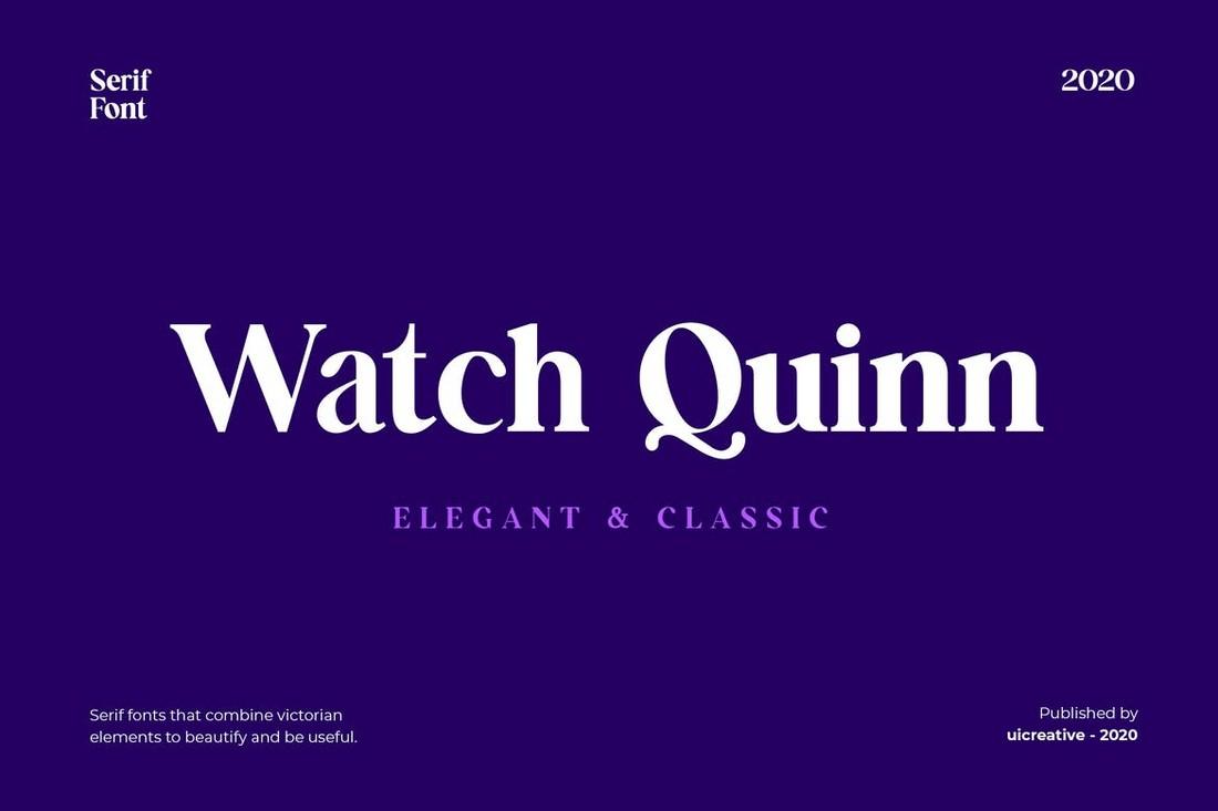 Watch Quinn - Elegant Serif Font