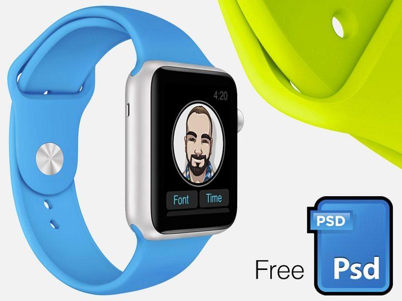 Watch-screenshot-mock-kit 50+ Apple Watch Mockups & Graphics design tips