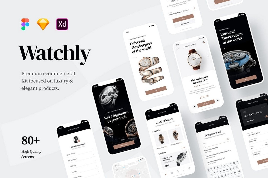 Watchly - Modern Ecommerce Store UI Kit