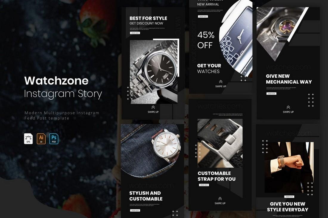 Watchzone - Instagram Frame Story Templates