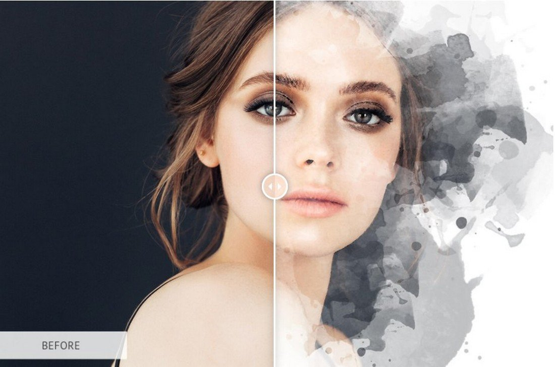 Watercolor Art - Free Photoshop Action