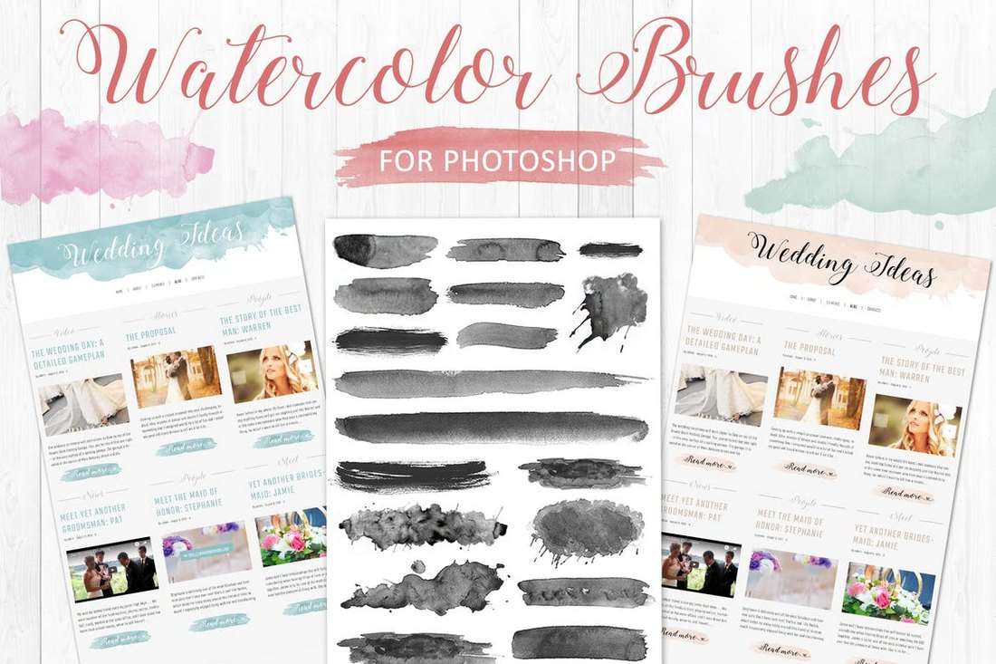 Watercolor-Brushes-for-Photoshop-2 20+ Best Photoshop Watercolor Brushes design tips