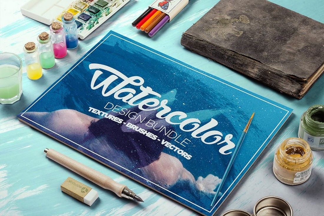 Watercolor Design Bundle - Brushes & Textures