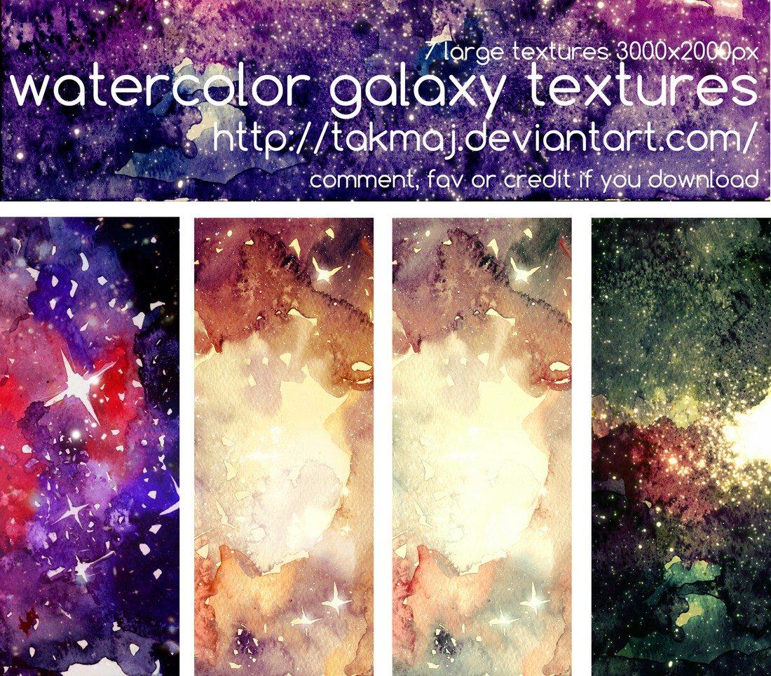 Watercolor-Galaxy-Textures 30+ Best Watercolor Background Textures design tips
