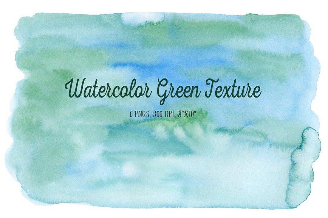 Watercolor-Green-Texture 30+ Best Watercolor Background Textures design tips