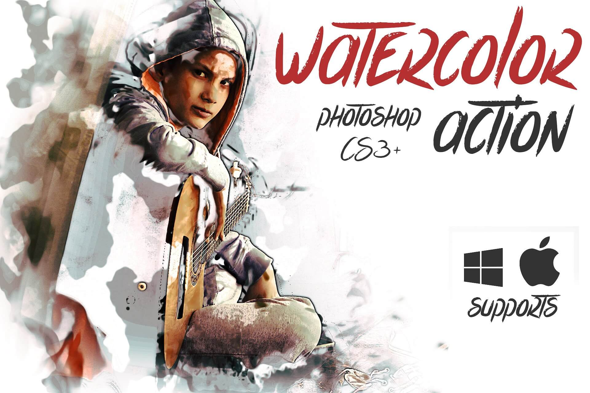 Watercolor-Photoshop-Action 40+ Best Photoshop Actions of 2018 design tips
