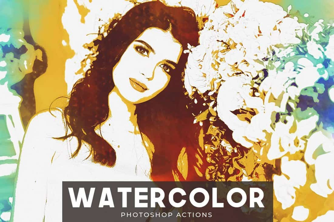 Watercolor - Portrait Photoshop Actions