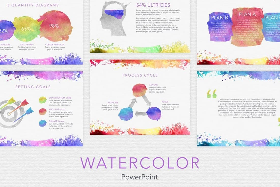 Watercolor - Professional PowerPoint Template
