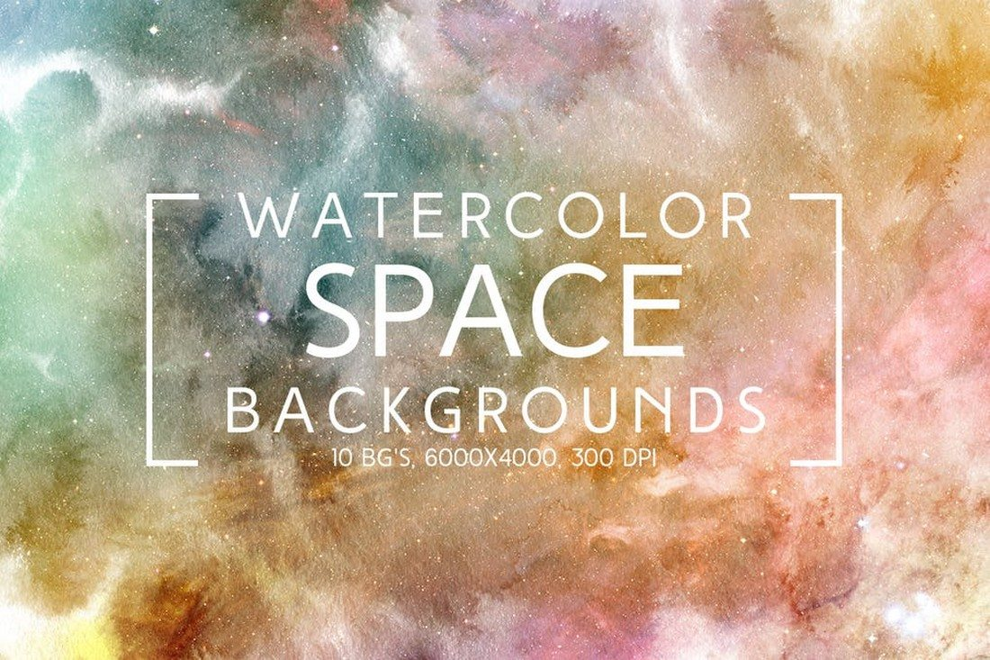 Watercolor-Space-Backgrounds 35+ Best Space & Galaxy Background Textures design tips