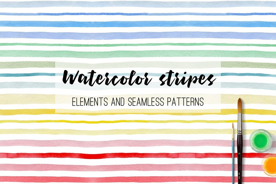 Watercolor-Stripes-and-Patterns 50+ Best Free Photoshop Patterns 2021 design tips