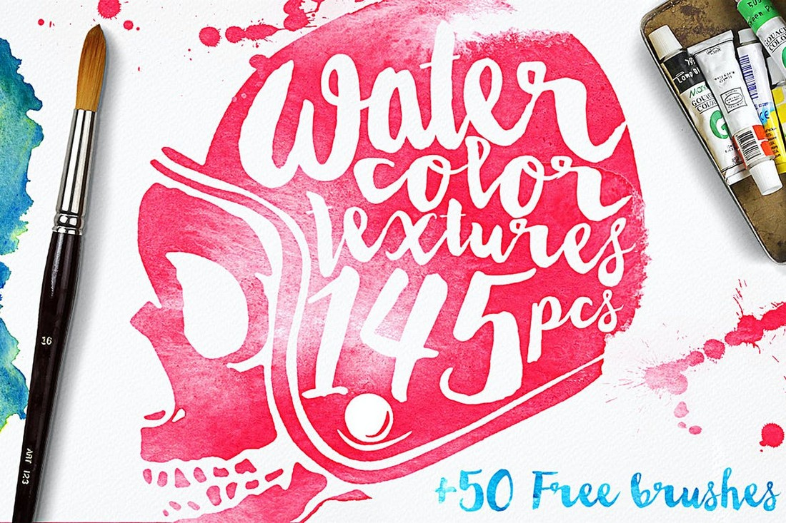 Watercolor Textures & Brushes for Affinity