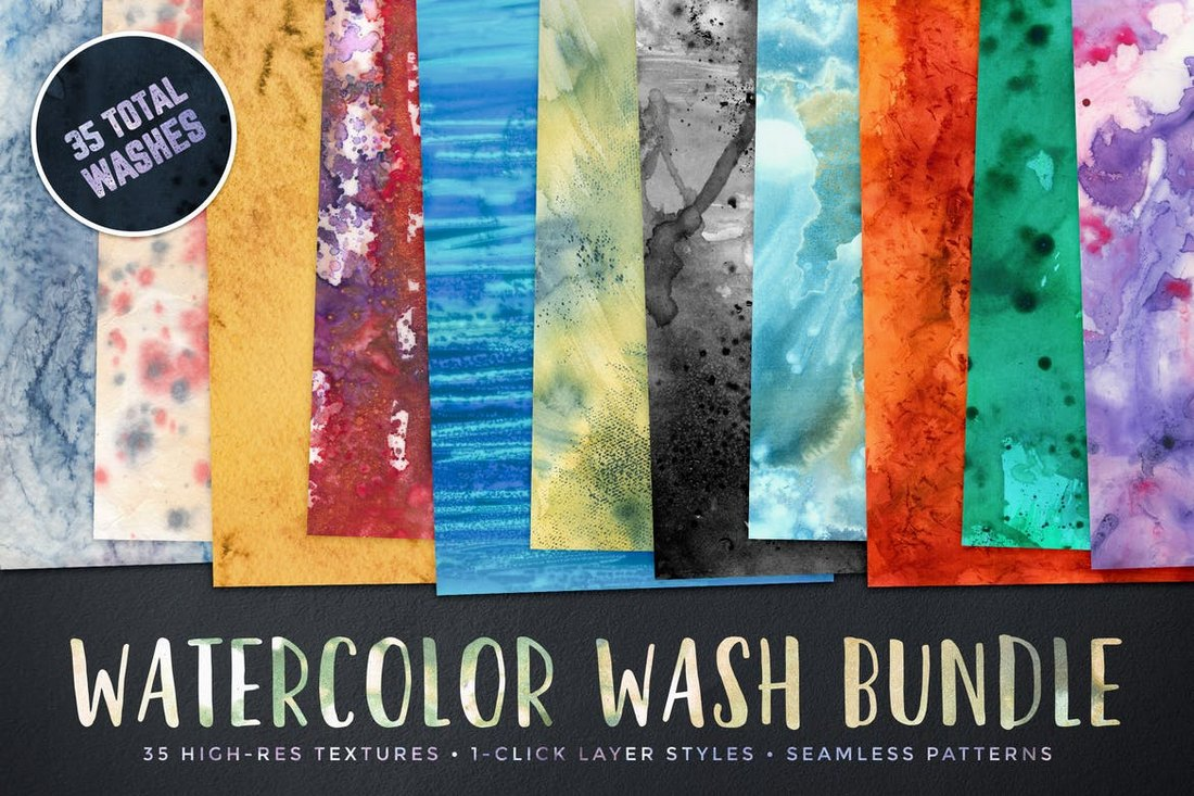 Watercolor-Wash-Bundle-Volume-1 50+ Best Free Photoshop Patterns 2021 design tips