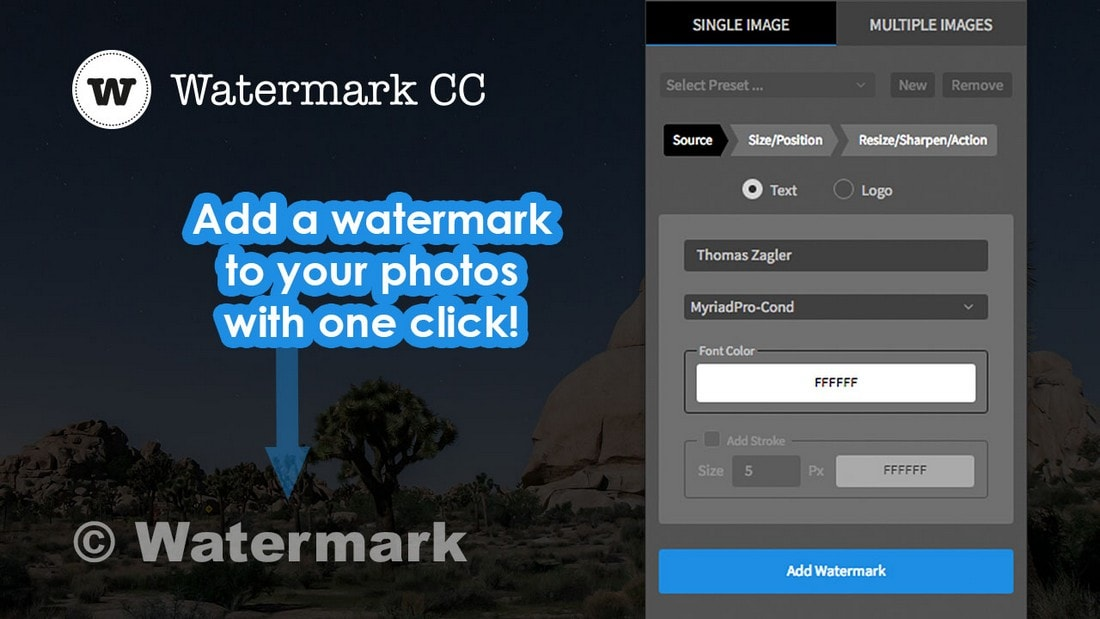 Watermark for Adobe Photoshop CC