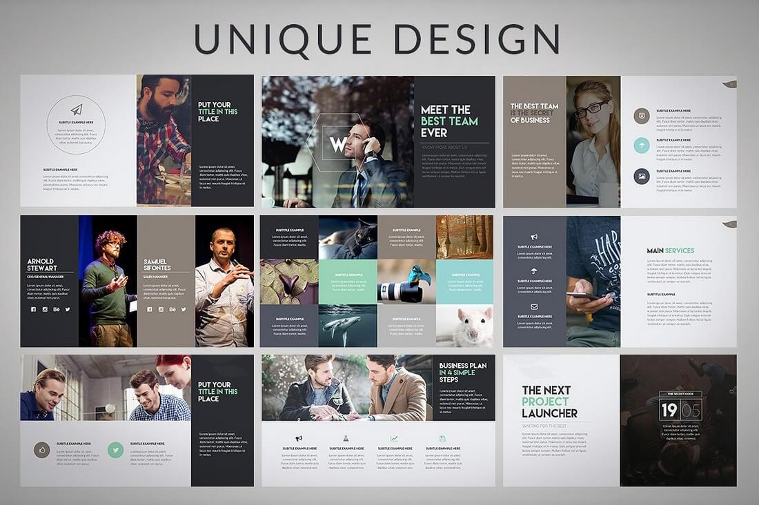 60 beautiful premium powerpoint presentation templates design shack wava powerpoint template toneelgroepblik Choice Image