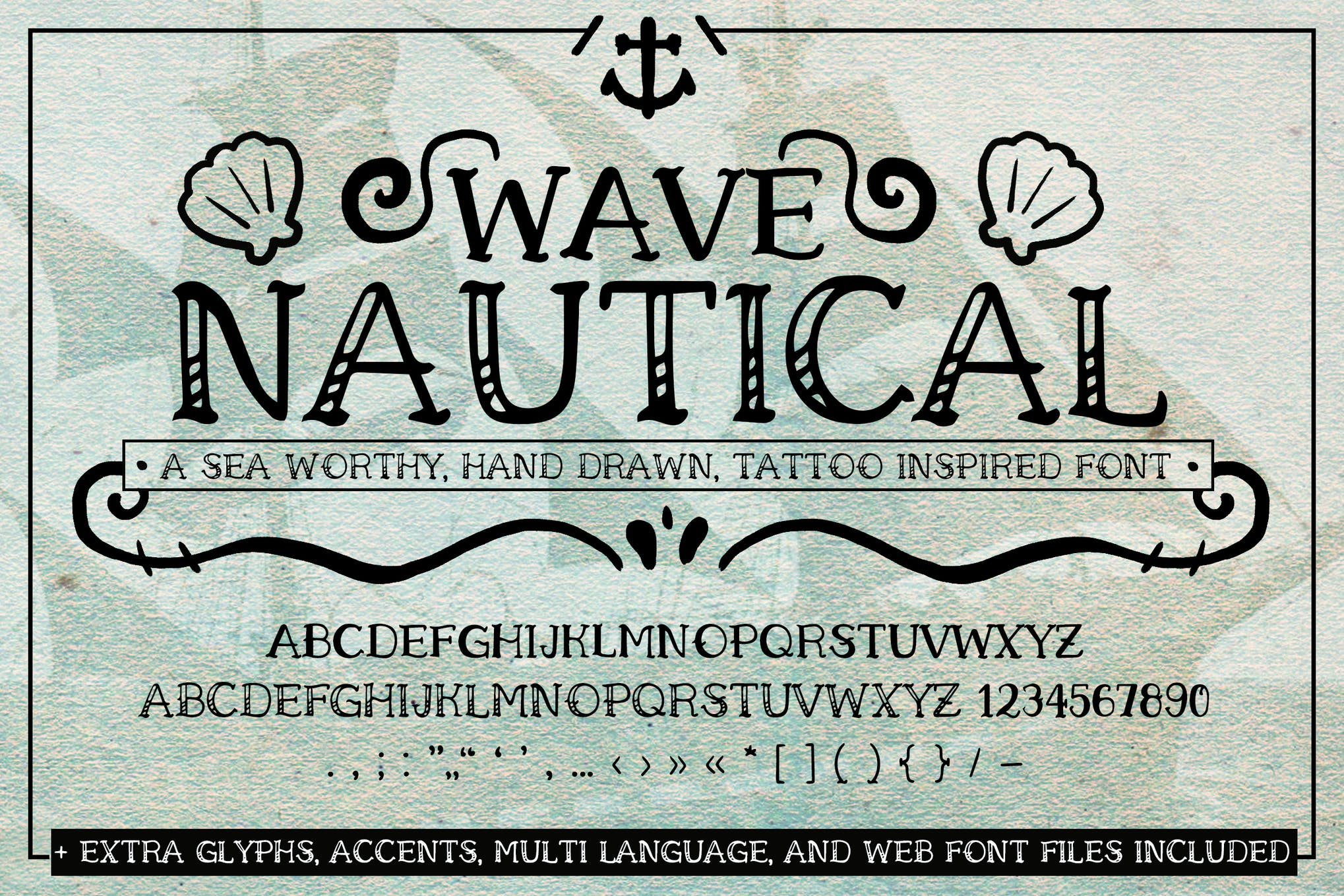 Wave Nautical Font