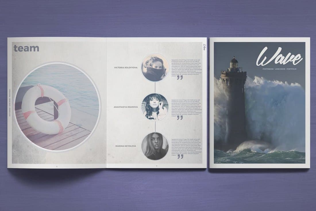 Wave Photobook Template