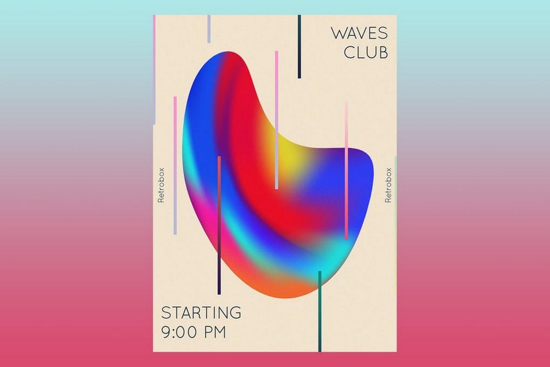 Waves Club Flyer Poster